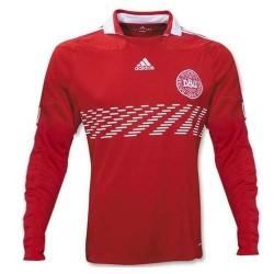 Camiseta de Dinamarca nacional local 2010/12 Player race tema por Adidas