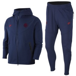 Survetement presentation PSG Tech Fleece UCL 2019/20 bleu - Nike