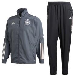 Deutschland fußball präsentation trainingsanzug 2020/21 grau - Adidas