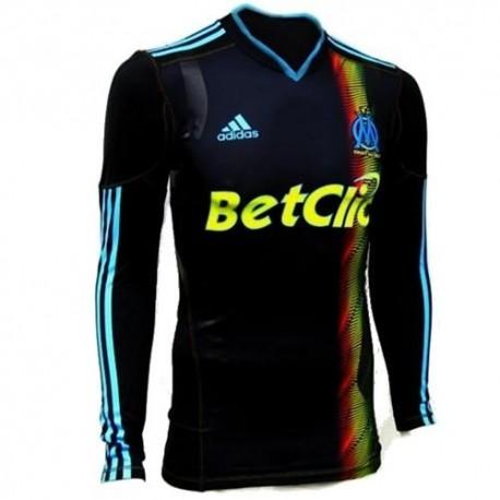 Olympique de Marseille Fußball Trikot 10/11 dritte Player Issue von Adidas Techfit lange Ärmel-