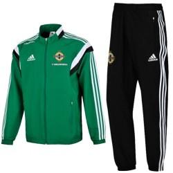 Nordirland training Präsentationsanzug 2015/16 green - Adidas