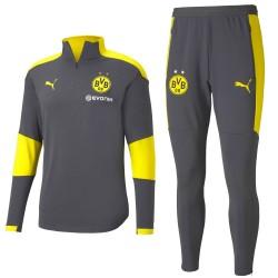 Survêtement Tech entrainement Borussia Dortmund 2020/21 gris - Puma
