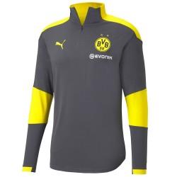 Sudadera tecnica gris entreno Borussia Dortmund 2020/21 - Puma