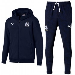 Olympique Marseille navy casual presentation sweat tracksuit 2019/20 - Puma