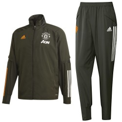 Manchester United green presentation tracksuit 2020/21 - Adidas