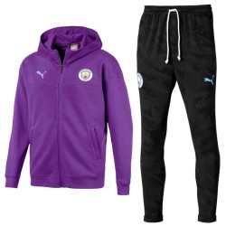 Manchester City violet casual presentation sweat tracksuit 2019/20 - Puma