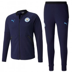Manchester City navy casual presentation sweat tracksuit 2020/21 - Puma