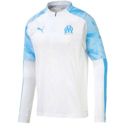 Olympique Marseille tech trainingssweat 2019/20 weiss - Puma