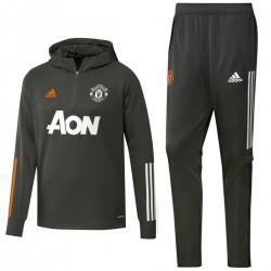 Survetement entrainement capuche Manchester United 2020/21 - Adidas