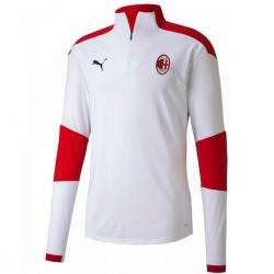 Tech sweat top d'entrainement AC Milan 2020/21 blanc - Puma