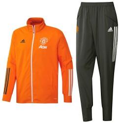 Chandal de presentacion naranja Manchester United 2021- Adidas