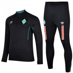 Werder Bremen black training technical tracksuit 2020 - Umbro