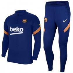 Tuta tecnica da allenamento blu FC Barcellona 2020/21 - Nike