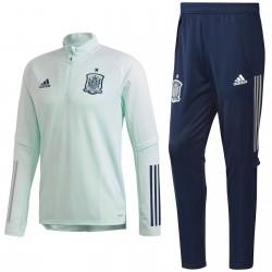 Survetement tech d'entrainement Espagne 2020/21 bleu eau - Adidas