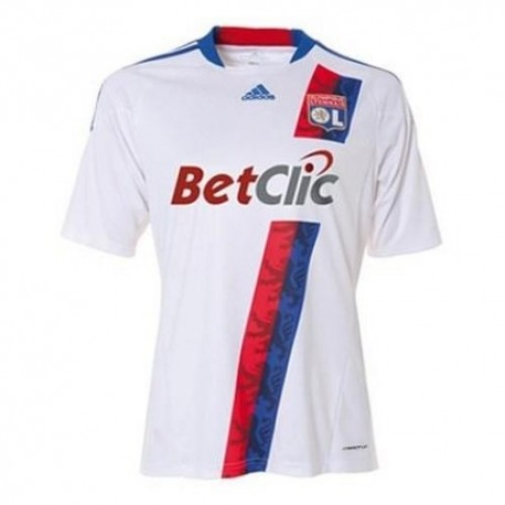 Olympique Lyonnais Home Soccer Jersey 2010/11 Player race Issue by Adidas