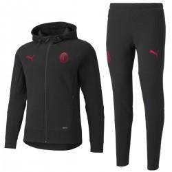 AC Milan black casual presentation sweat tracksuit 2021/22 - Puma