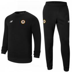 AS Roma black Casual crew presentation tracksuit 2021/22 - New Balance