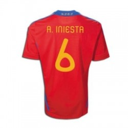 Maglia Nazionale Spagna Home 10/12 Iniesta 6 by Adidas