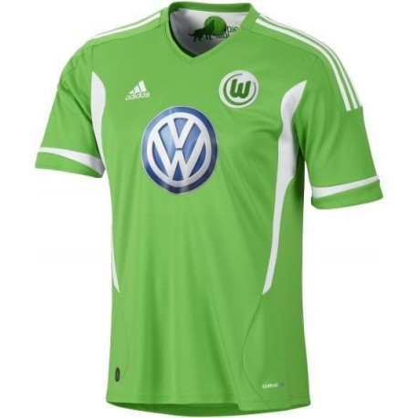 Wolfsburg Soccer Jersey 2011/12 Home by Adidas