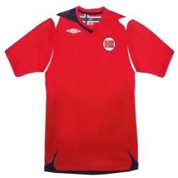 Camiseta de local de fútbol de Noruega nacional Umbro 2006/08