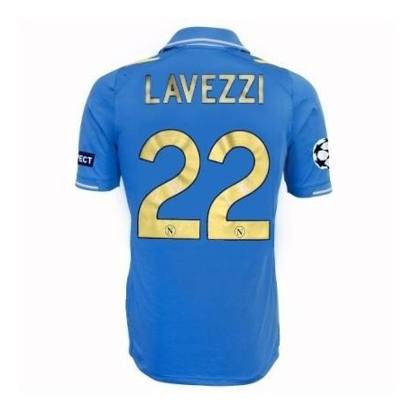 SSC Napoli Jersey Home Uefa Champions League 2011/12 Lavezzi 22 Player Issue for race-Macron
