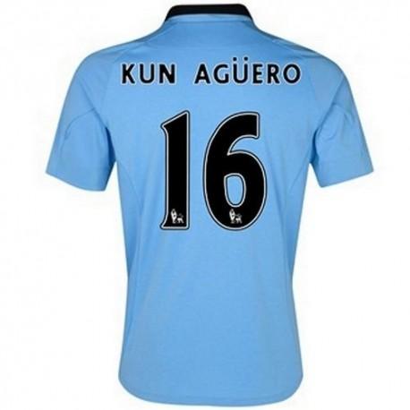 Manchester City Home Fußball Trikot 2012/13 Kun Aguero 16 Umbro