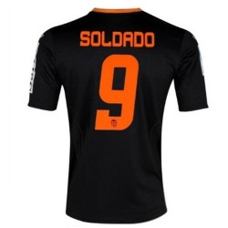 Valencia CF fútbol Jersey 2012/13 tercer Soldado 9-Joma