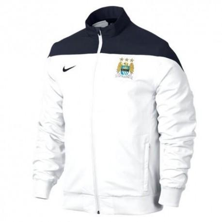 Chaqueta presentacion Manchester City 2013/14 blanco/azul - Nike