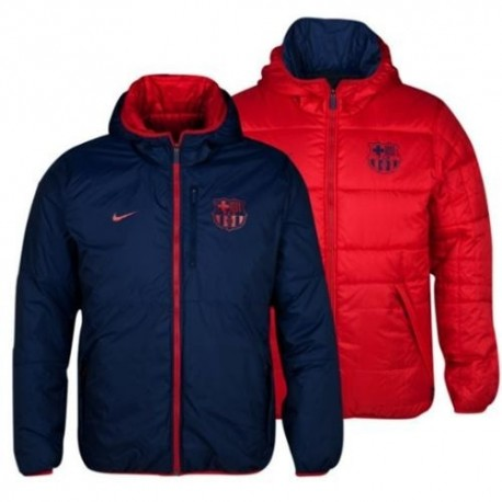 Kippen Sie es reversible Weste Jacke FC Barcelona 2013/14-Nike