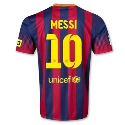 FC Barcelone domicile Football Jersey 2013/14 Messi 10 - Nike