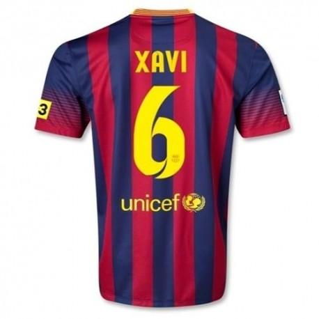 Xavi FC Barcelona casa fútbol Jersey 2013/14 6-Nike