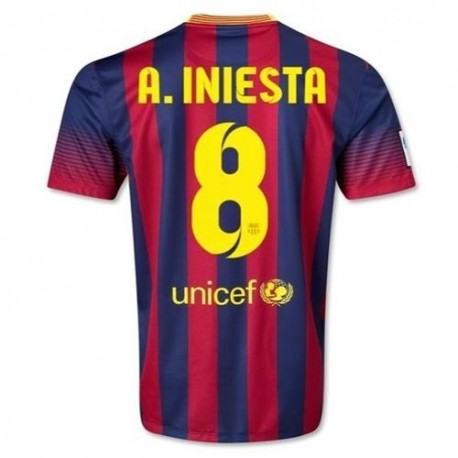 FC Barcelona Home Football Jersey 2013/14 a. Iniesta 8-Nike