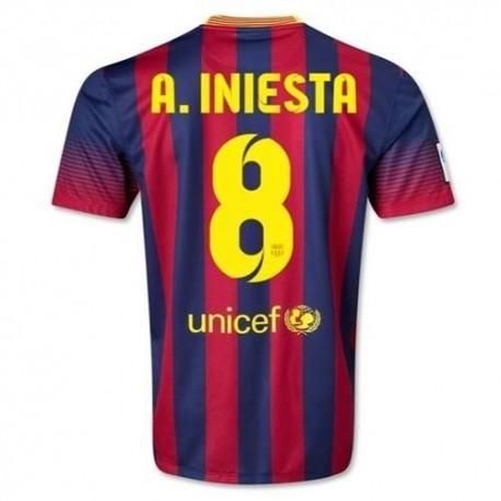 Maglia calcio FC Barcellona Home 2013/14 A. Iniesta 8 - Nike