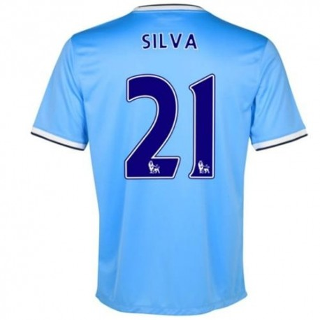 Camiseta de fútbol Manchester City Home 2013/14 Silva 21-Nike