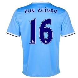 Camiseta de fútbol de Manchester City Home 2013/14 Kun Aguero 16-Nike