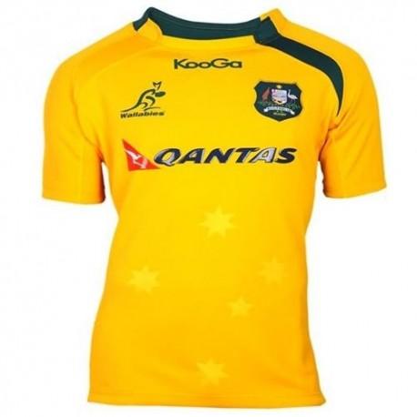 Australia National Rugby Jersey Home 2013/14-manufacturer Kooga