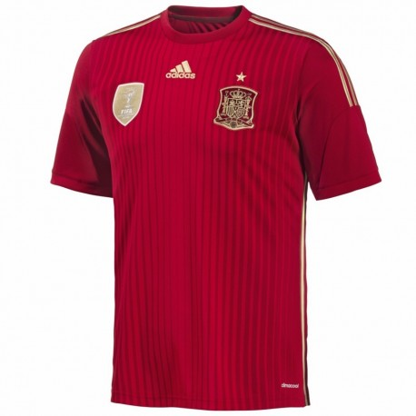 Spain Home soccer jersey 2014/15 made by Adidas