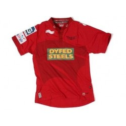 Scarlets Rugby jersey 2011/12 Home by Burrda