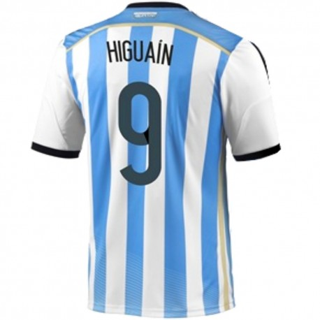 Argentina Home football shirt 2014/15 Higuain 9 - Adidas