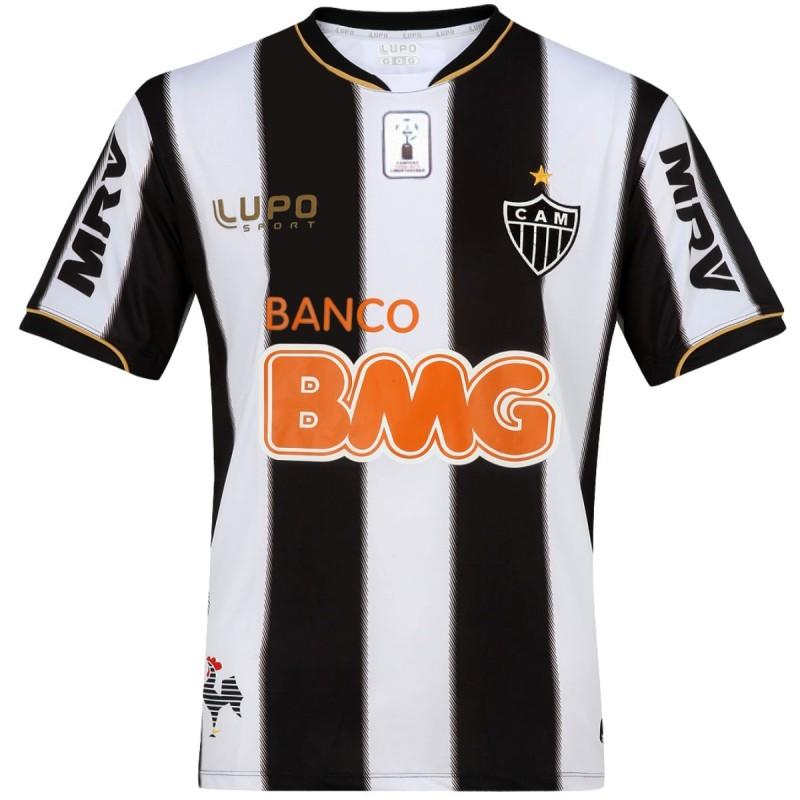 Atletico Mineiro Home Soccer Jersey 2013 14 Ronaldinho 10