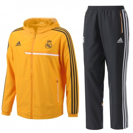 Real Madrid CF presentation tracksuit 2013/14 Orange - Adidas