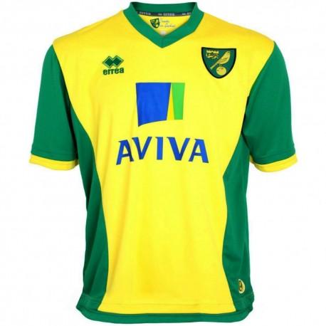 Norwich City FC Home soccer jersey 2013/14 - Errea