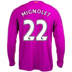 Maillot gardien FC Liverpool domicile 2014/15 Mignolet 22 - Warrior