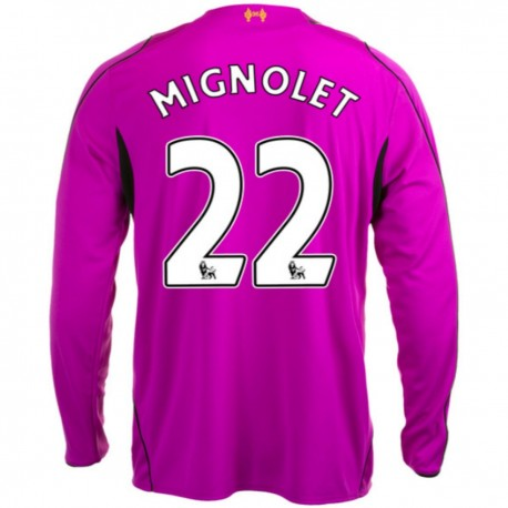 9472f56ae Liverpool FC Home goalkeeper jersey 2014 15 Mignolet 22 - Warrior ...