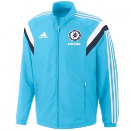 Chaqueta azul claro de presentación FC Chelsea 2014/15 - Adidas
