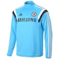 Sudadera tecnica de entrenamiento FC Chelsea celeste 2014/15 - Adidas