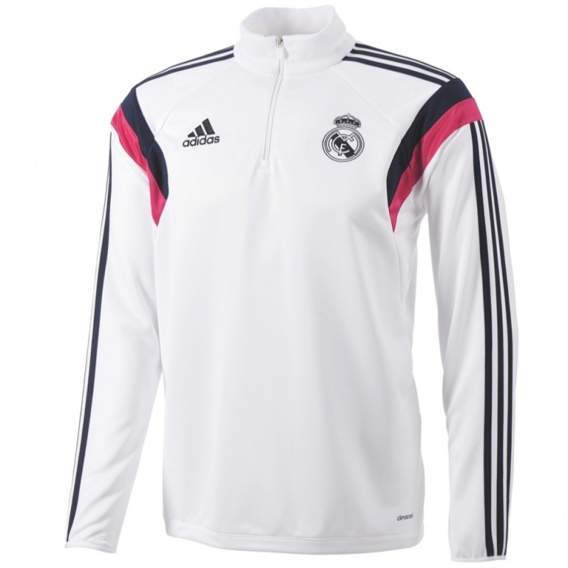 real madrid cf sweat top technique entrainement 2014 15. Black Bedroom Furniture Sets. Home Design Ideas