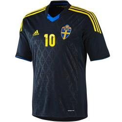 Maillot de foot nationale Suede exterieur 2013/14 Ibrahimovic 10 - Adidas