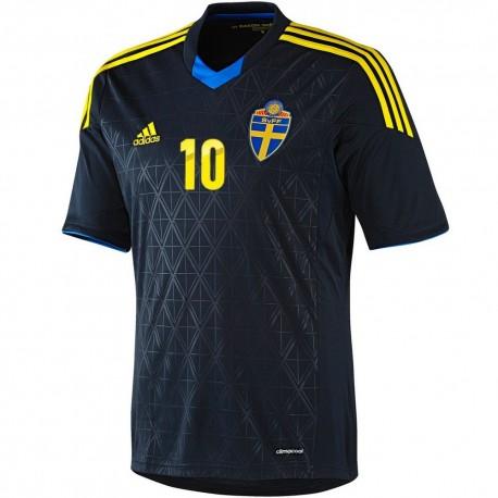 Camiseta de futbol seleccion Suecia segunda 2013/14 Ibrahimovic 10 - Adidas
