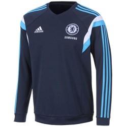Felpa allenamento blu FC Chelsea 2014/15 - Adidas